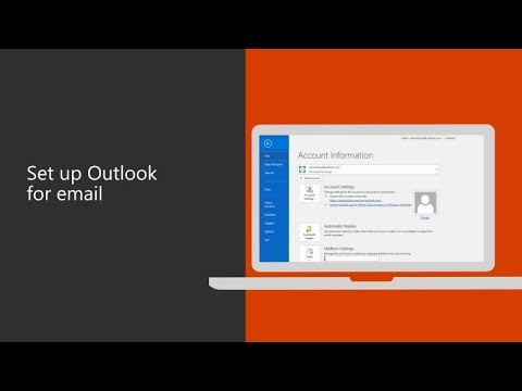 How to configure Emails on outlook