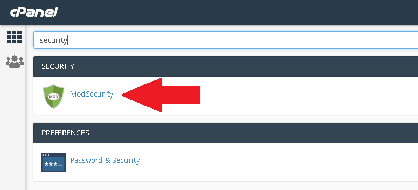 How to disable/enable ModSecurity in cPanel
