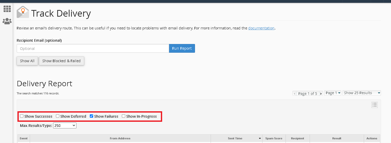 How to Review an Email's Delivery Report