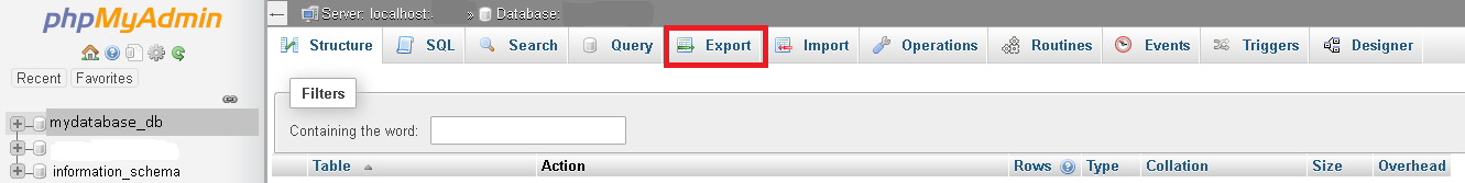 How to Export Your Database from thecPanel