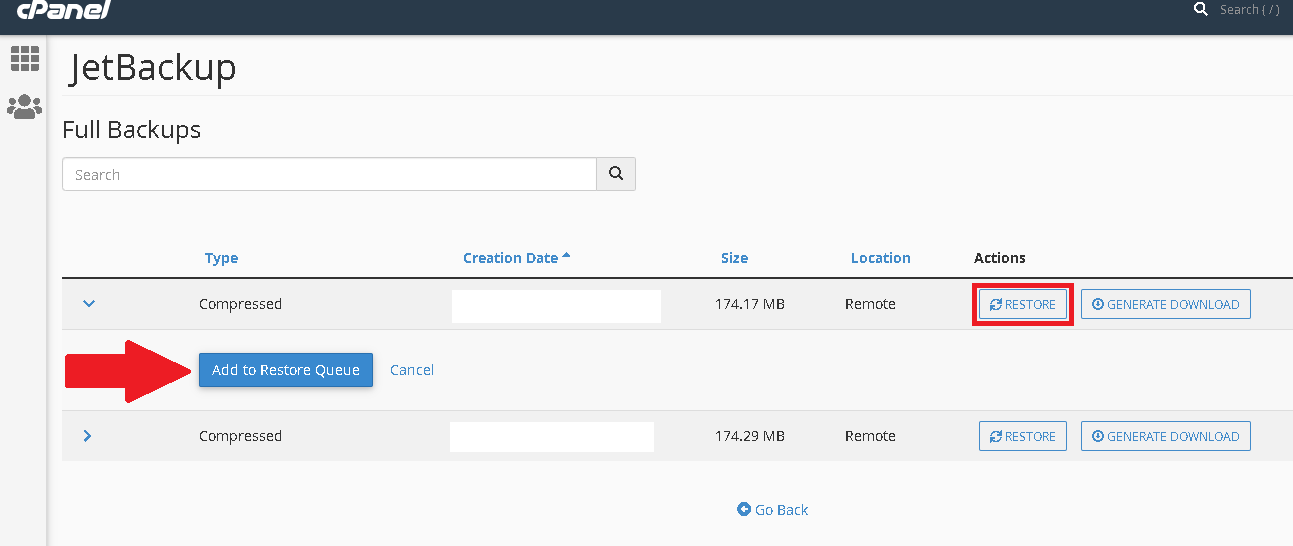 How to Restore Website Backup through the Cpanel